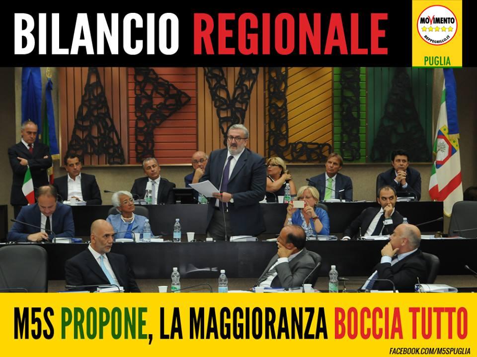 """BILANCIO, M5S PROPONE 9 EMENDAMENTI. LA MAGGIORANZA DICE """"NO"""" A TUTTO."""