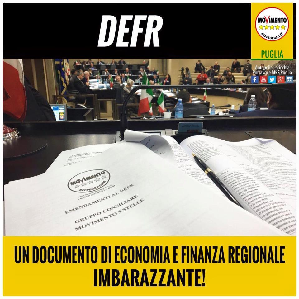 UN DOCUMENTO DI ECONOMIA E FINANZA REGIONALE IMBARAZZANTE!