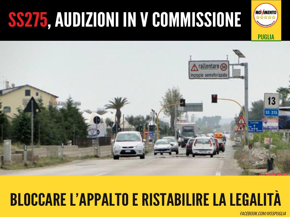 SS275. BLOCCARE L'APPALTO E RISTABILIRE LA LEGALITA'