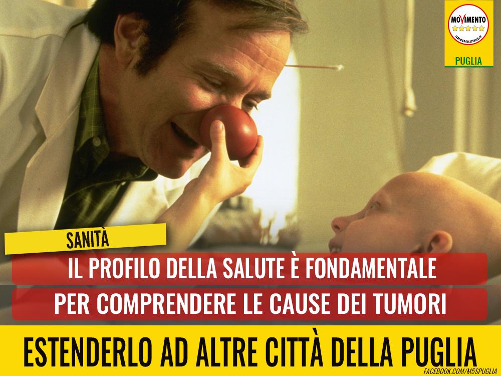Sanità, Di Bari: Il Profilo della Salute è fondamentale per comprendere le cause dei tumori. Estenderlo ad altre città della Puglia