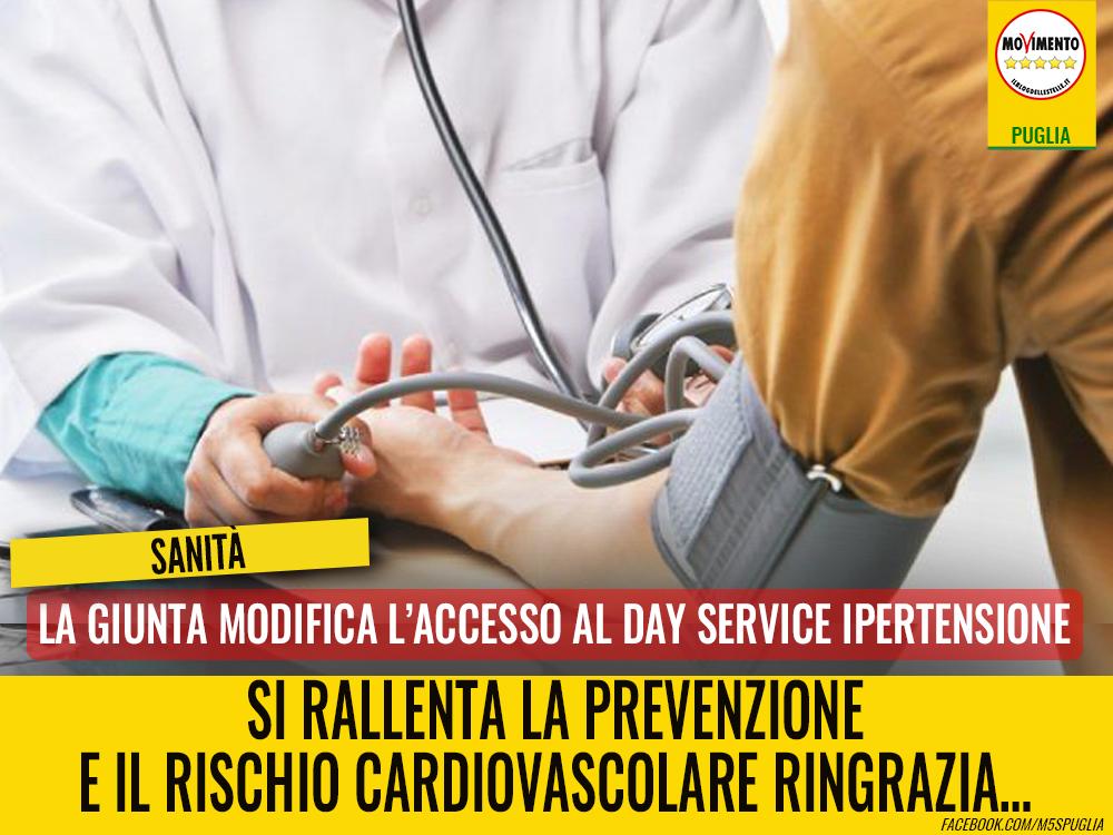 Sanità, modifica dell'accesso al day service ipertensione..