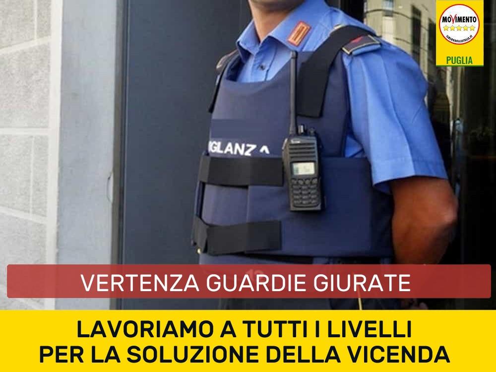 """Sciopero guardie giurate. Bozzetti: """"Movimento 5 Stelle impegnato a tutti i livelli per la risoluzione della vicenda"""""""