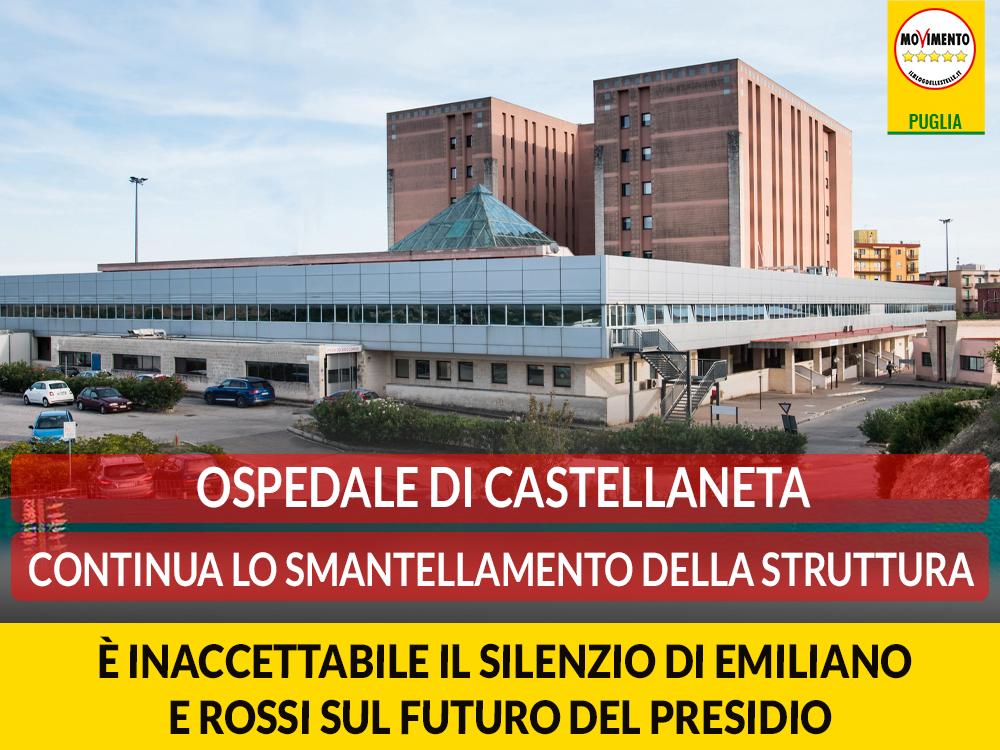 Ospedale di Castellaneta. Galante (#M5S): Inaccettabile il silenzio di Emiliano e Rossi sul futuro del presidio