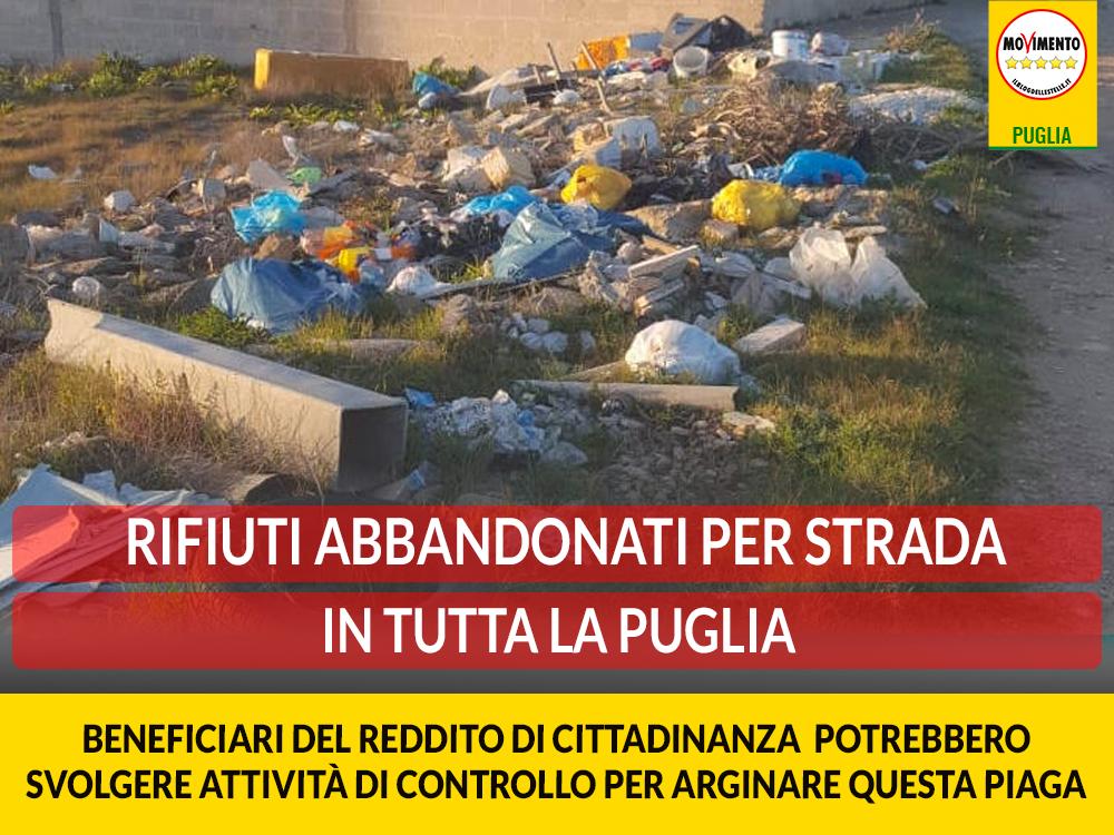 Abbandono di rifiuti. Trevisi: I beneficiari del reddito di cittadinanza potrebbero svolgere attività di controllo e pulizia