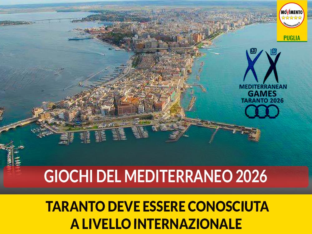 Giochi del Mediterraneo 2026. Galante: Taranto deve essere conosciuta a livello internazionale