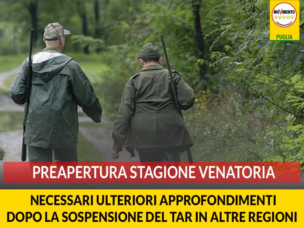 Preapertura stagione venatoria. Bozzetti: Necessari ulteriori approfondimenti dopo la sospensione del Tar in altre regioni