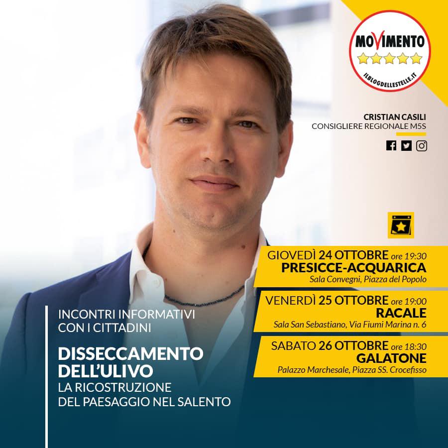 """Tre appuntamenti per parlare di rigenerazione del Salento. Casili (M5S): """"Necessario un progetto territoriale di paesaggio"""""""