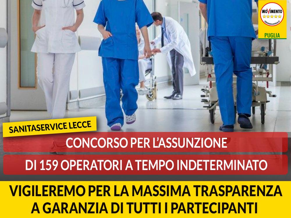 """Lecce. Concorso Sanitaservice, Casili (M5S): """"Vigileremo per la massima trasparenza a garanzia di tutti i partecipanti"""""""