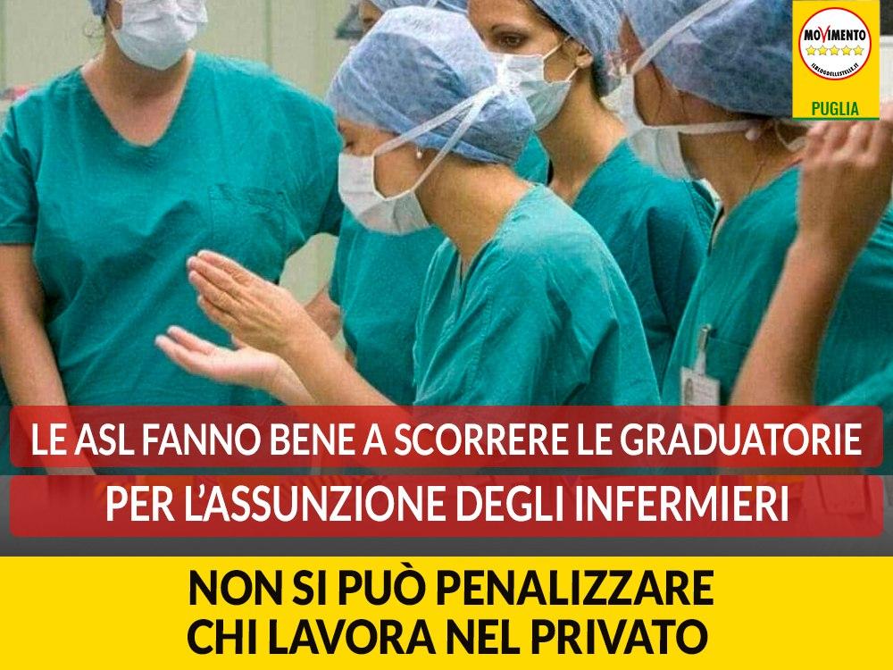 """Coronavirus. Galante (M5S): """"Le Asl fanno bene a scorrere le graduatorie per l'assunzione degli infermieri. Non si può penalizzare chi lavora nel privato"""""""