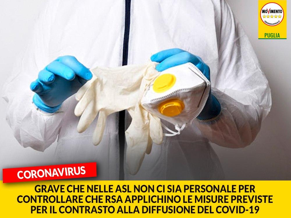 """Coronavirus. Galante (M5S): """"Grave che nelle ASL non ci sia   personale per controllare che le RSA applichino le misure previste per il contrasto alla diffusione del Covid-19"""""""