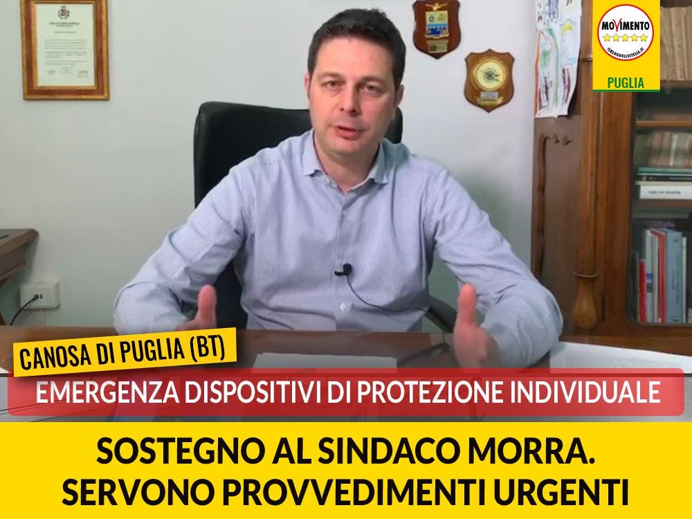 """Canosa, emergenza DPI, Di Bari (M5S): """"Sostegno al sindaco Morra, servono provvedimenti urgenti"""""""