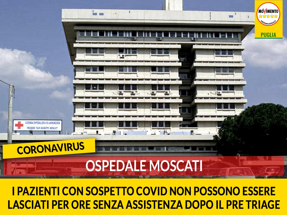 """Coronavirus, ospedale Moscati. Galante (M5S): """"I pazienti con sospetto Covid non possono essere lasciati per ore senza assistenza dopo il pre-triage"""""""