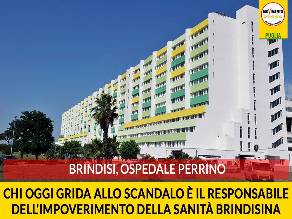 """Brindisi, ospedale Perrino. Bozzetti (M5S): """"Chi oggi grida allo scandalo è il responsabile dell'impoverimento della sanità brindisina"""""""