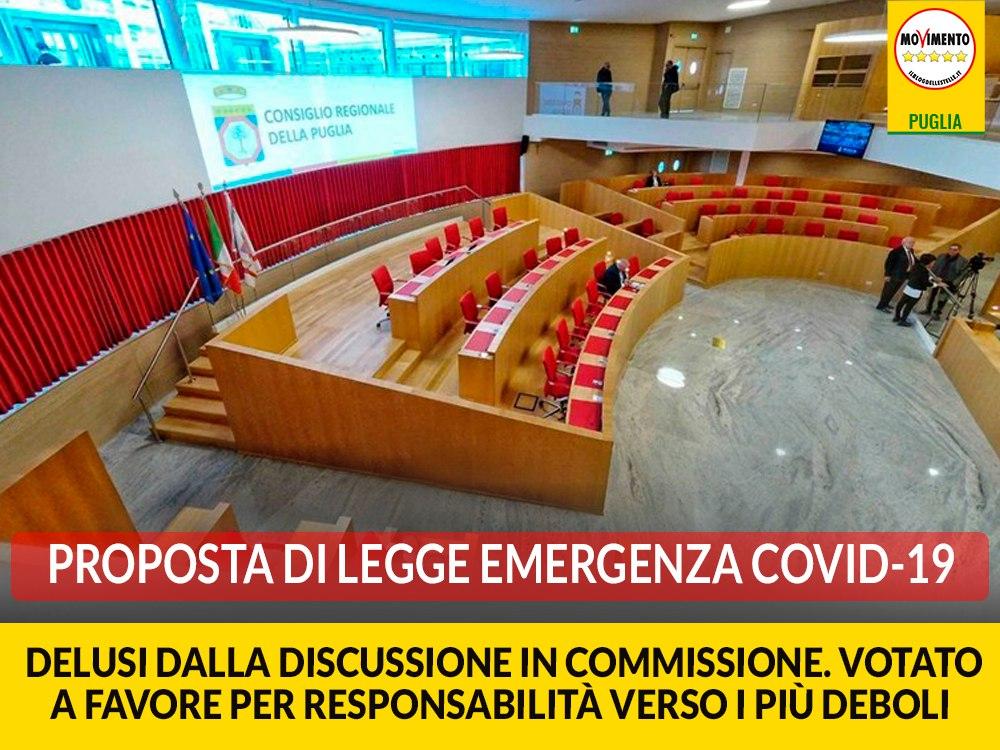 """Pdl emergenza Covid-19. M5S: """"Delusi dalla discussione in Commissione. Votato a favore per responsabilità verso i più deboli"""""""