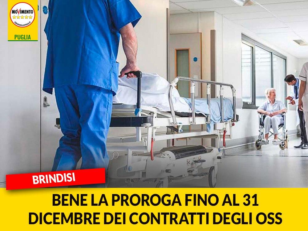 """Brindisi. M5S """"Bene la proroga fino al 31 dicembre dei contratti degli OSS"""""""