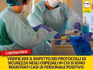 """Coronavirus. Casili (M5S): """"Verificare il rispetto dei protocolli di sicurezza negli ospedali in cui si sono registrati casi di personale positivo al Covid-19"""""""