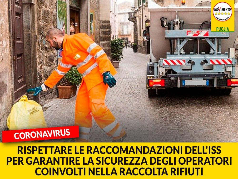 """Coronavirus. Trevisi (M5S): """"Regione valuti ordinanza con prescrizioni in linea con l'ISS per garantire la sicurezza degli operatori coinvolti nella raccolta rifiuti"""""""