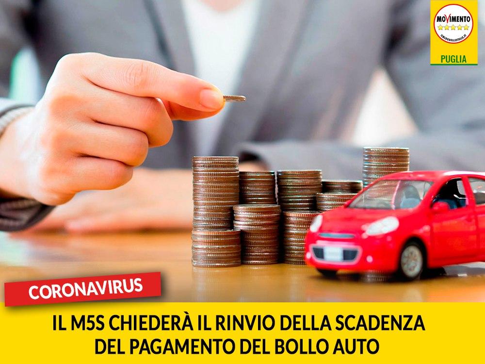 Coronavirus. M5S presenterà ODG per chiedere il rinvio della scadenza del pagamento del bollo auto