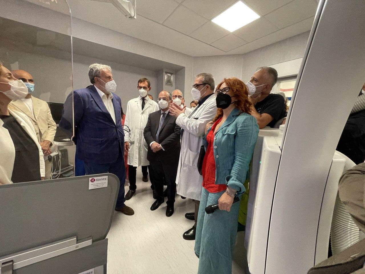 Andria. Inaugurazione strumentazioni all'ospedale Bonomo. Di Bari: Bene il potenziamento del nosocomio in attesa della realizzazione del nuovo ospedale